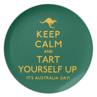 Keep Calm and Tart Yourself Up! Plate