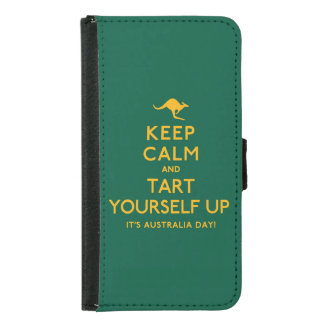 Keep Calm and Tart Yourself Up! Samsung Galaxy S5 Wallet Case