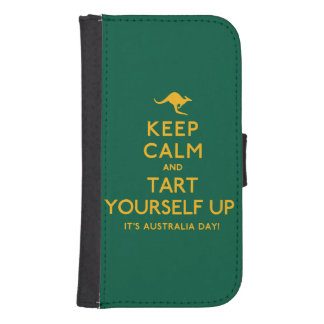 Keep Calm and Tart Yourself Up! Samsung S4 Wallet Case