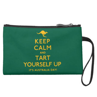 Keep Calm and Tart Yourself Up! Suede Wristlet