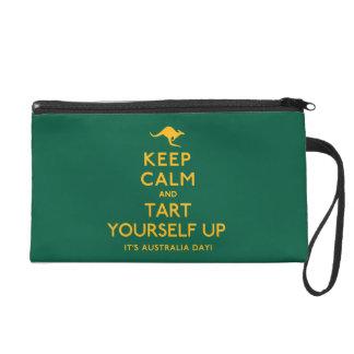 Keep Calm and Tart Yourself Up! Wristlet