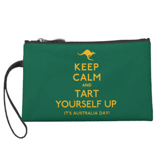 Keep Calm and Tart Yourself Up! Wristlet Purses