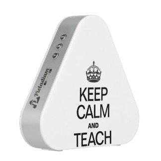 KEEP CALM AND TEACH. BLUEOOTH SPEAKER