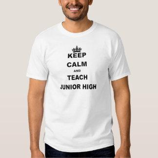 KEEP CALM AND TEACH JUNIOR HIGH SHIRTS