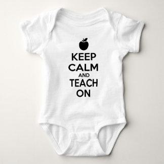 Keep Calm and Teach On Baby Bodysuit