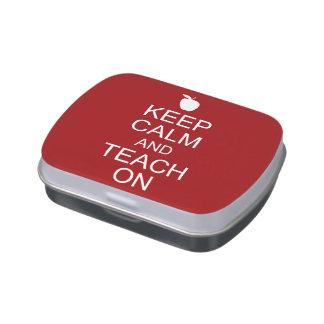 Keep Calm and TEACH On Candy Tin