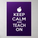 Keep Calm and Teach On meme Print