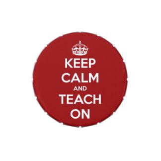 Keep Calm and Teach On Red Candy Tin
