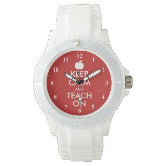 Keep Calm and teach on wrist watch gift idea