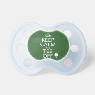 Keep Calm and Tee Off - Golf presents, all colors. Pacifier