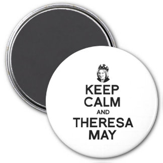 Keep Calm and Theresa May - -  3 Inch Round Magnet