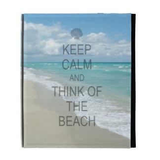 Keep Calm and Think of the Beach iPad Folio Cover
