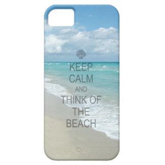 Keep Calm and Think of the Beach iPhone 5 Covers