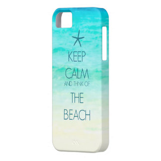 Keep Calm and Think of the Beach Photo Case