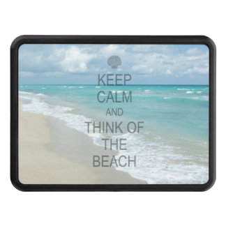 Keep Calm and Think of the Beach Tow Hitch Cover