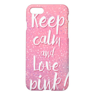 Keep calm and think pink case