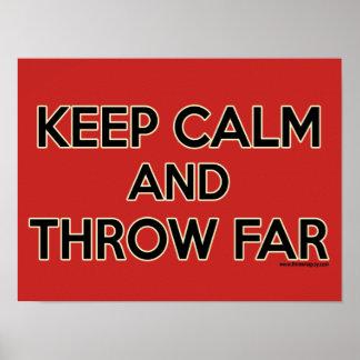 Keep Calm and Throw Far, Shot Put Poster