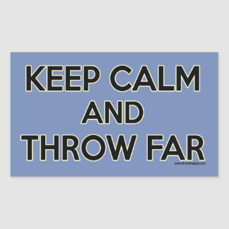 Keep Calm and Throw Far, Shot Put Stickers
