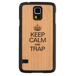 KEEP CALM AND TRAP CARVED® CHERRY GALAXY S5 SLIM CASE