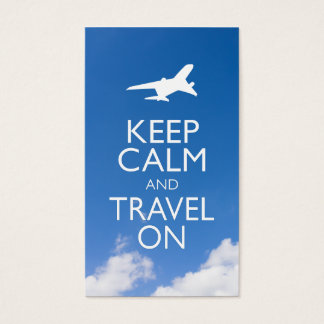 KEEP CALM AND TRAVEL ON BUSINESS CARD