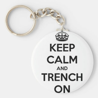 Keep Calm And Trench On Keychain