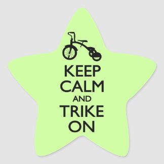 Keep Calm and Trike On Star Sticker