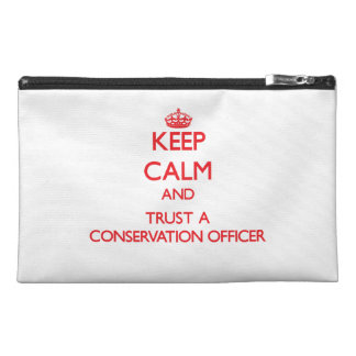 Keep Calm and Trust a Conservation Officer Travel Accessories Bags