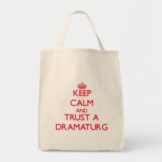 Keep Calm and Trust a Dramaturg Tote Bag