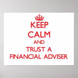 Keep Calm and Trust a Financial Adviser Print