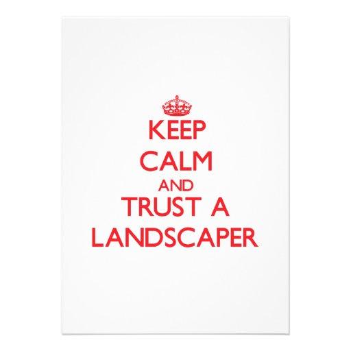 Keep Calm and Trust a Landscaper Invitations