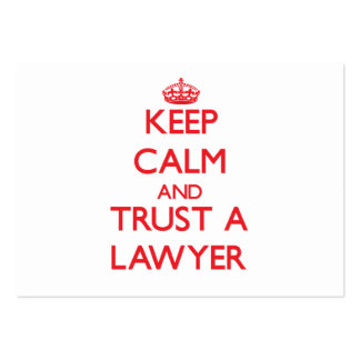 Keep Calm and Trust a Lawyer Business Card Template