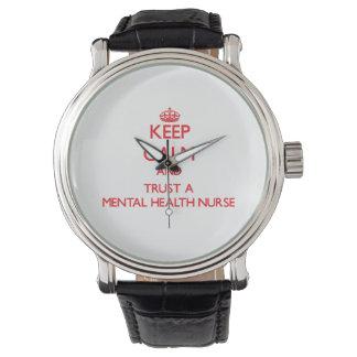 Keep Calm and Trust a Mental Health Nurse Wristwatch