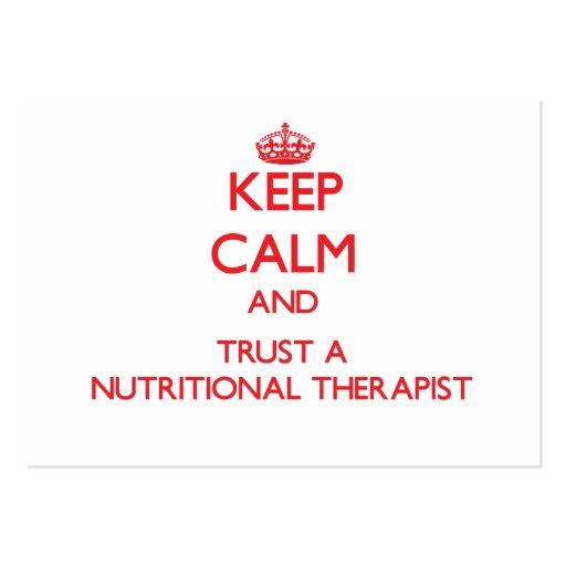 Keep Calm and Trust a Nutritional arapist Business Card Template