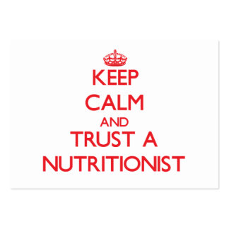 Keep Calm and Trust a Nutritionist Business Card Template