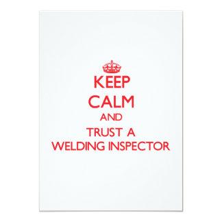 "Keep Calm and Trust a Welding Inspector 5"" X 7"" Invitation Card"
