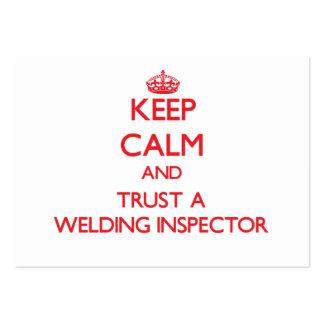 Keep Calm and Trust a Welding Inspector Business Cards