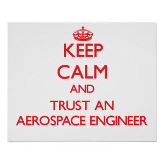 Keep Calm and Trust an Aerospace Engineer Posters