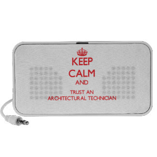 Keep Calm and Trust an Architectural Technician iPhone Speaker