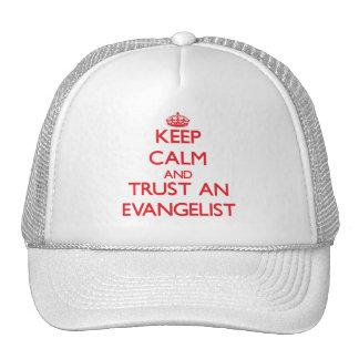 Keep Calm and Trust an Evangelist Trucker Hats