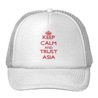Keep Calm and TRUST Asia Trucker Hats