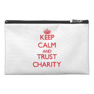 Keep Calm and TRUST Charity Travel Accessory Bag
