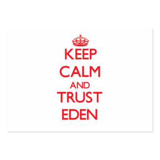 Keep Calm and TRUST Eden Pack Of Chubby Business Cards