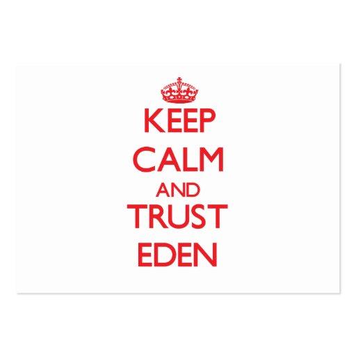 Keep Calm and TRUST Eden Business Card Template
