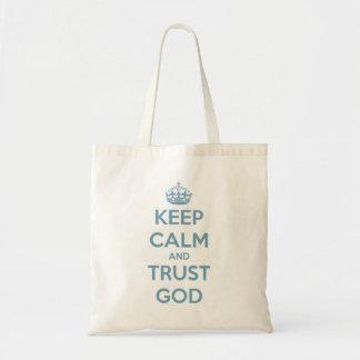 Keep Calm and Trust God Blue