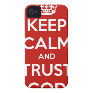 Keep Calm and Trust God iPhone 4 Case