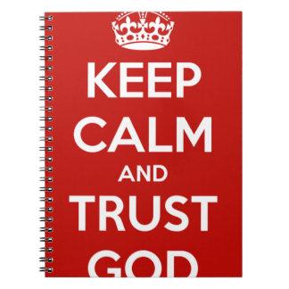 Keep Calm and Trust God Notebooks
