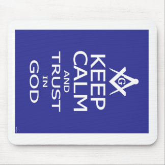 KEEP CALM AND TRUST IN GOD MOUSE PAD