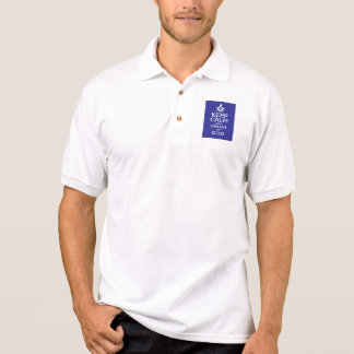 KEEP CALM AND TRUST IN GOD POLO SHIRT