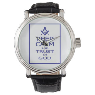 KEEP CALM AND TRUST IN GOD WATCH