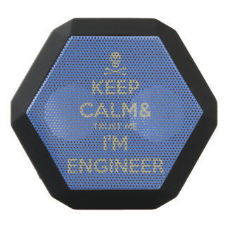 Keep calm and trust me I am engineer Black Bluetooth Speaker